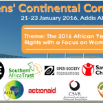 21-23 January 2016: Citizens' Continental Conference, Addis Ababa, Ethiopia