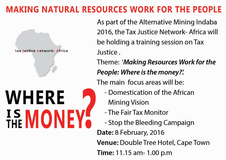 AMI 2016: Training Session on Tax Justice